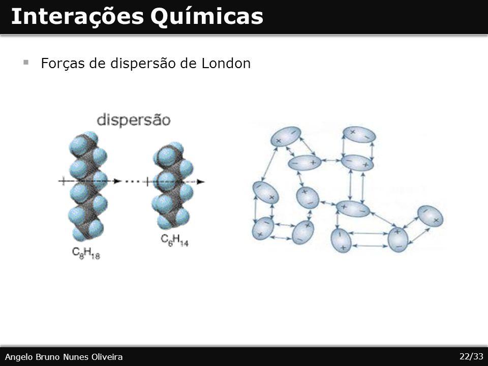 Interações Químicas Forças de dispersão de London