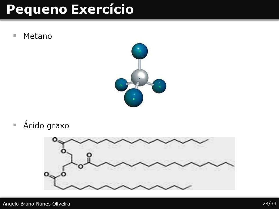 Pequeno Exercício Metano Ácido graxo