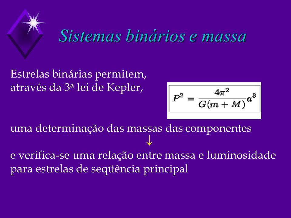 Sistemas binários e massa