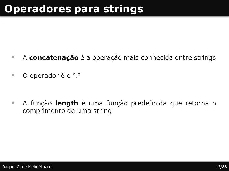 Operadores para strings