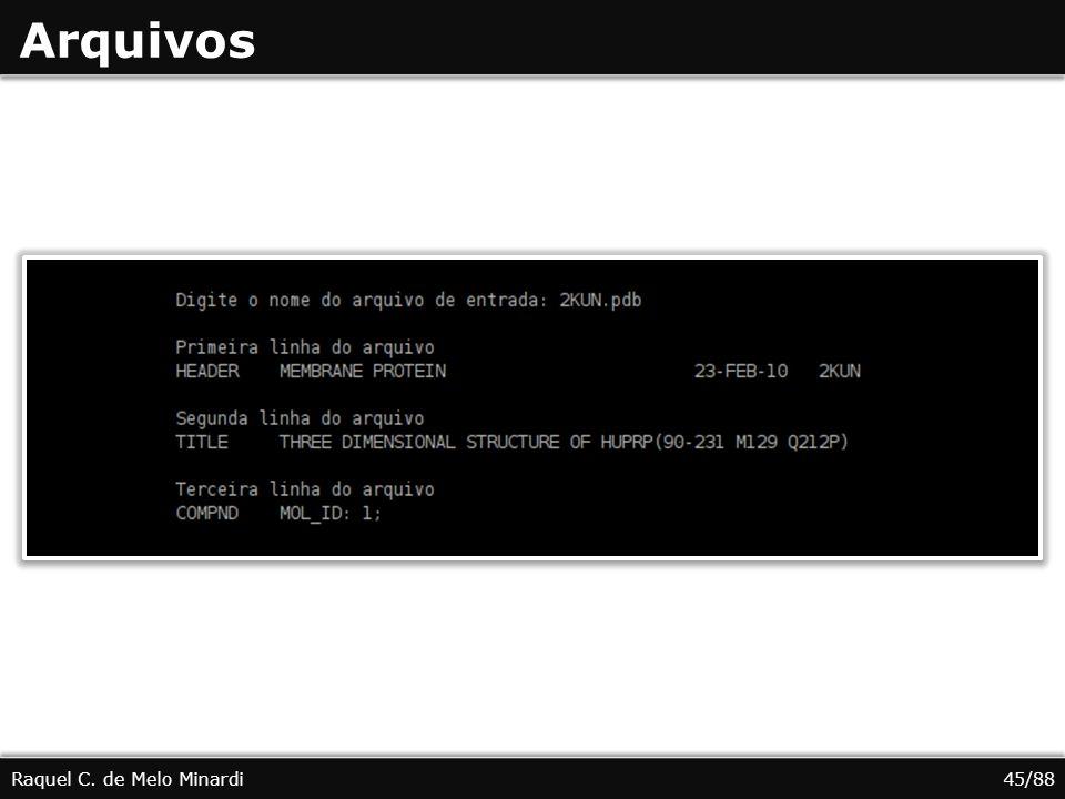 Arquivos Raquel C. de Melo Minardi 45/88