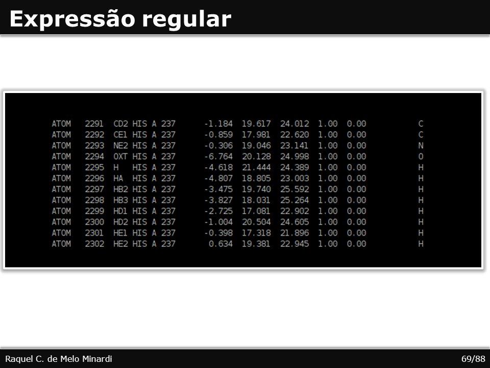 Expressão regular Raquel C. de Melo Minardi 69/88
