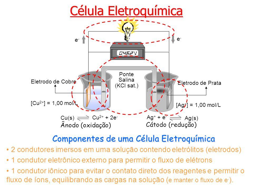 Célula Eletroquímica Componentes de uma Célula Eletroquímica