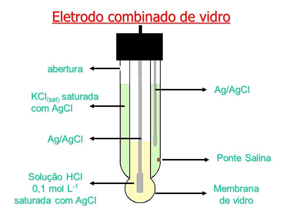 Solução HCl 0,1 mol L-1 saturada com AgCl