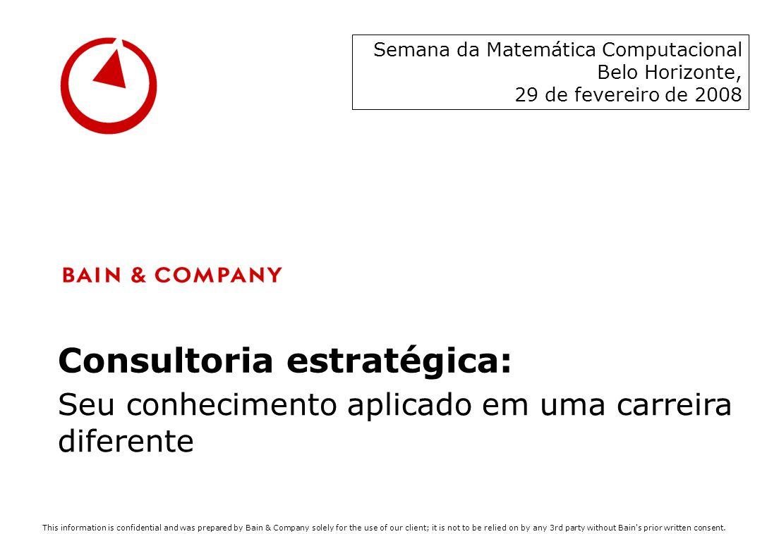 Consultoria estratégica: