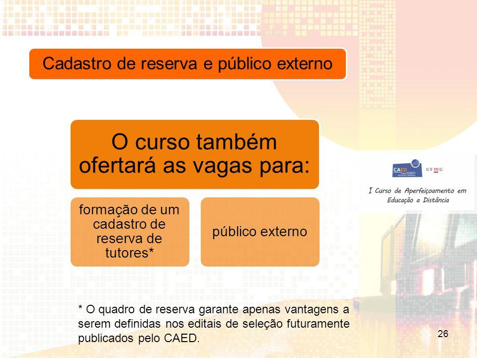 Cadastro de reserva e público externo