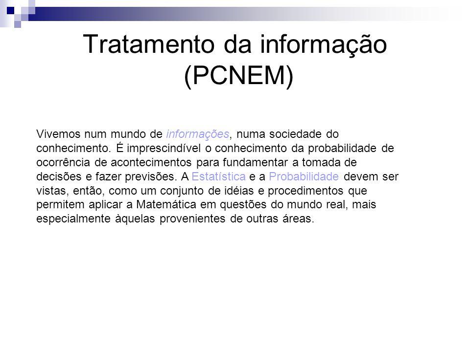 Tratamento da informação (PCNEM)