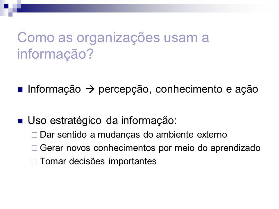 Como as organizações usam a informação