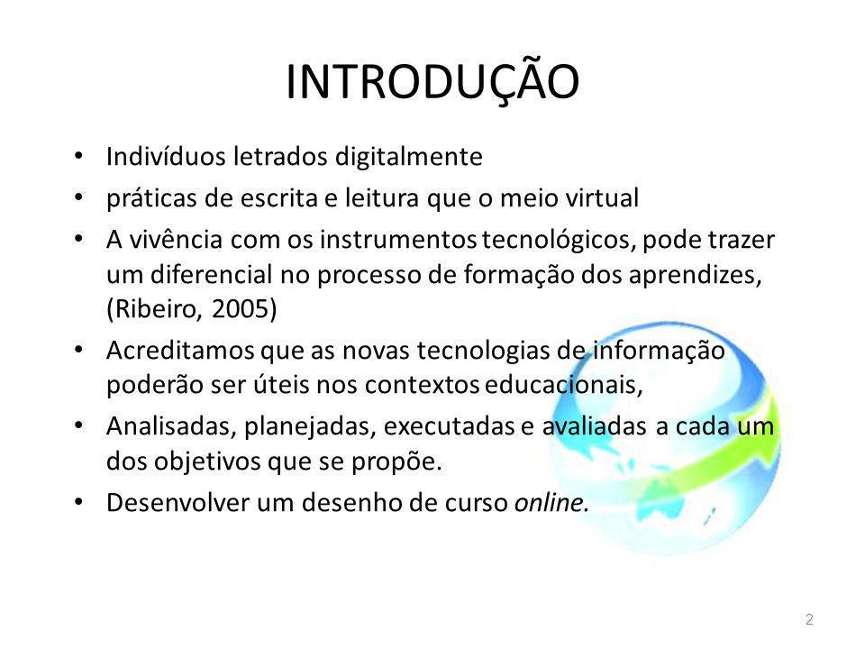 INTRODUÇÃO Indivíduos letrados digitalmente