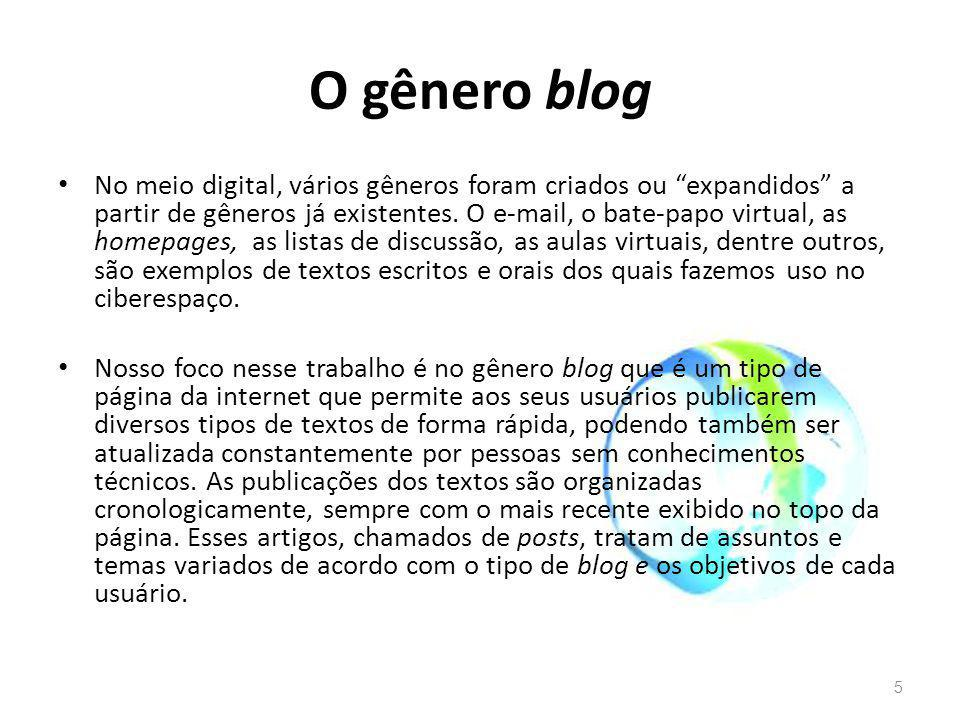 O gênero blog