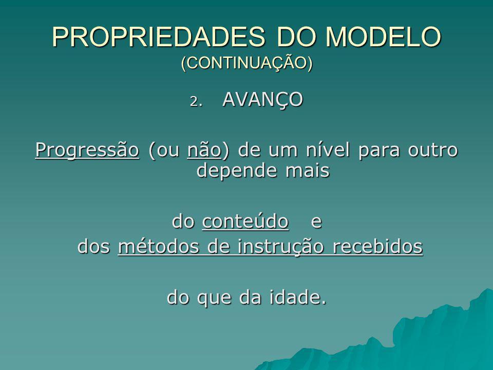 PROPRIEDADES DO MODELO (CONTINUAÇÃO)