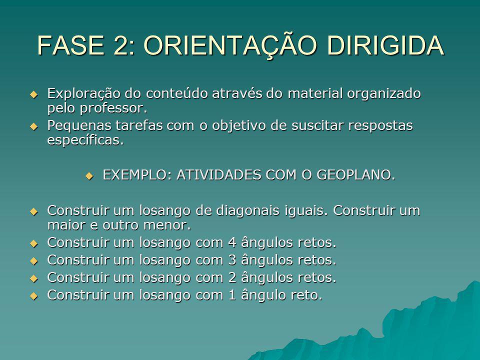 FASE 2: ORIENTAÇÃO DIRIGIDA