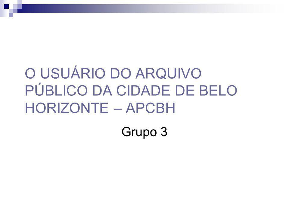 O USUÁRIO DO ARQUIVO PÚBLICO DA CIDADE DE BELO HORIZONTE – APCBH