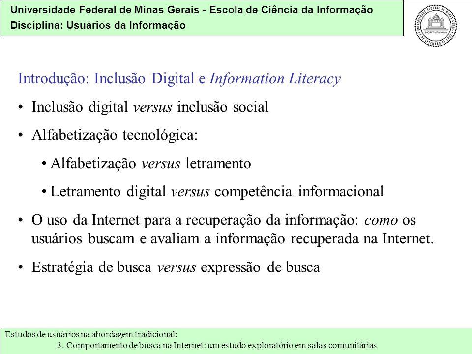 Introdução: Inclusão Digital e Information Literacy