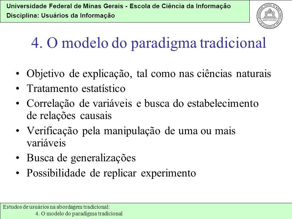 4. O modelo do paradigma tradicional