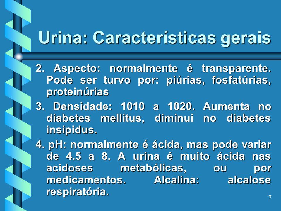 Urina: Características gerais