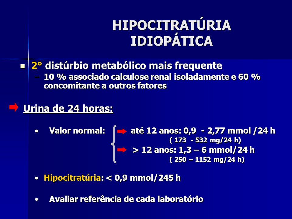 HIPOCITRATÚRIA IDIOPÁTICA