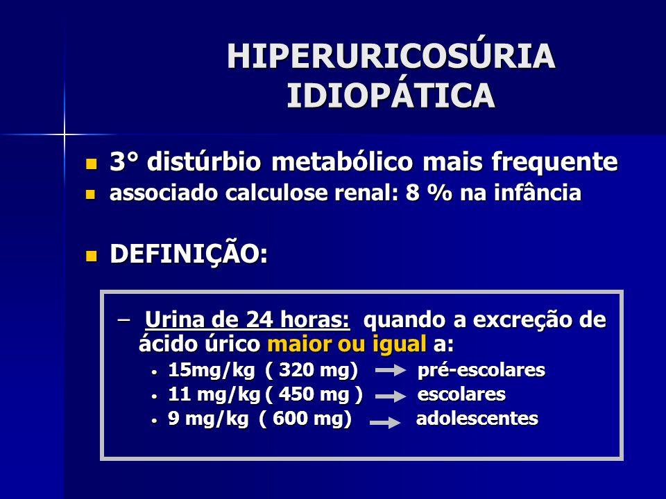 HIPERURICOSÚRIA IDIOPÁTICA