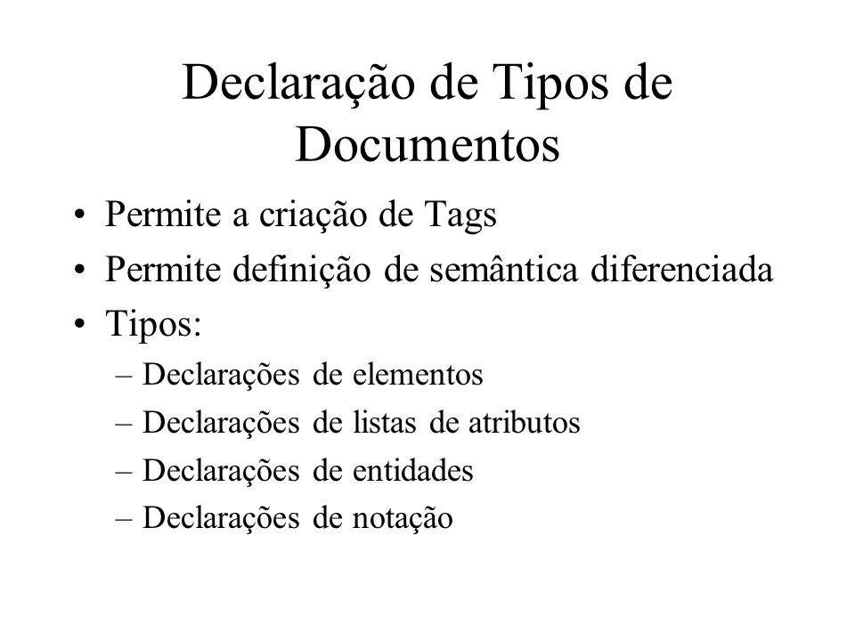 Declaração de Tipos de Documentos