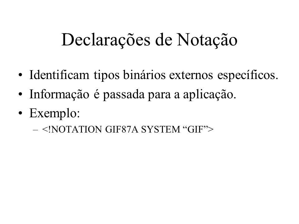 Declarações de Notação