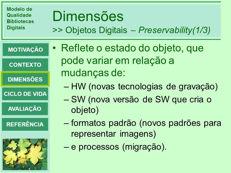 Dimensões >> Objetos Digitais – Preservability(1/3)