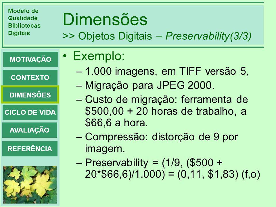 Dimensões >> Objetos Digitais – Preservability(3/3)