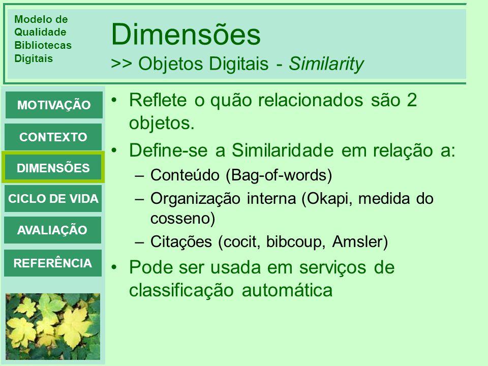Dimensões >> Objetos Digitais - Similarity