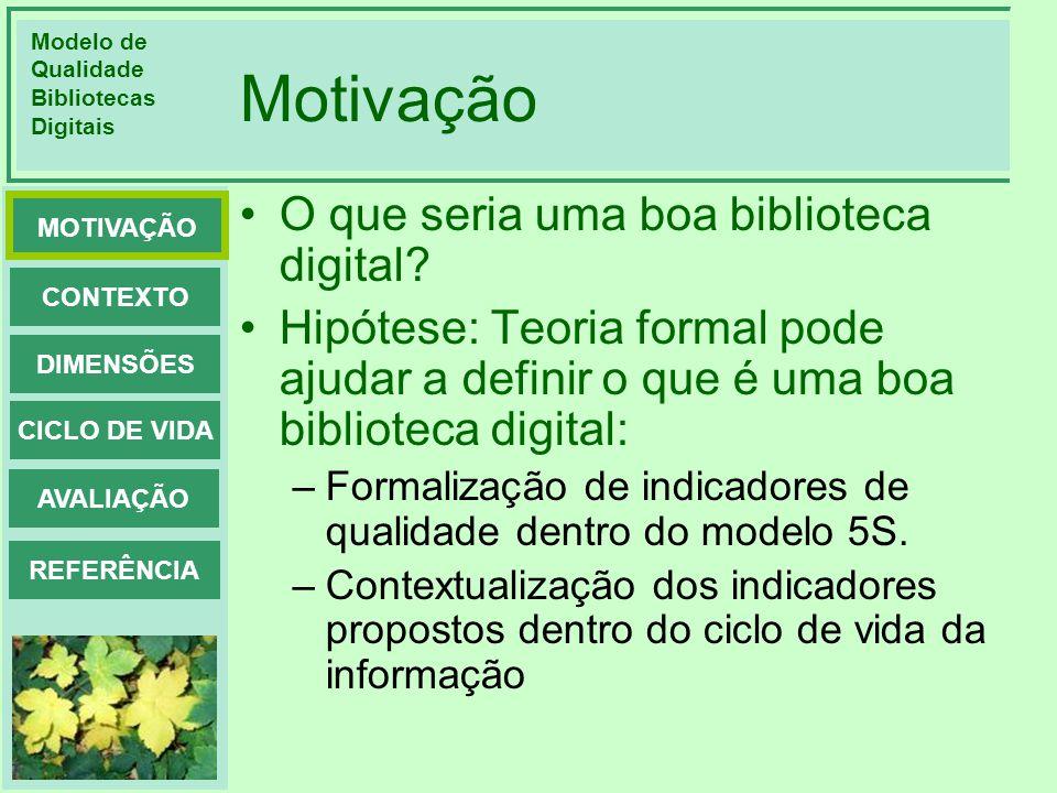 Motivação O que seria uma boa biblioteca digital