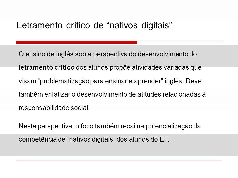 Letramento crítico de nativos digitais