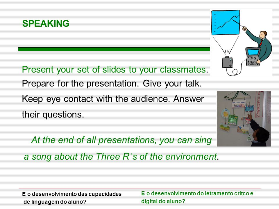 Present your set of slides to your classmates.