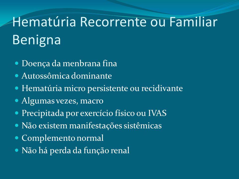 Hematúria Recorrente ou Familiar Benigna