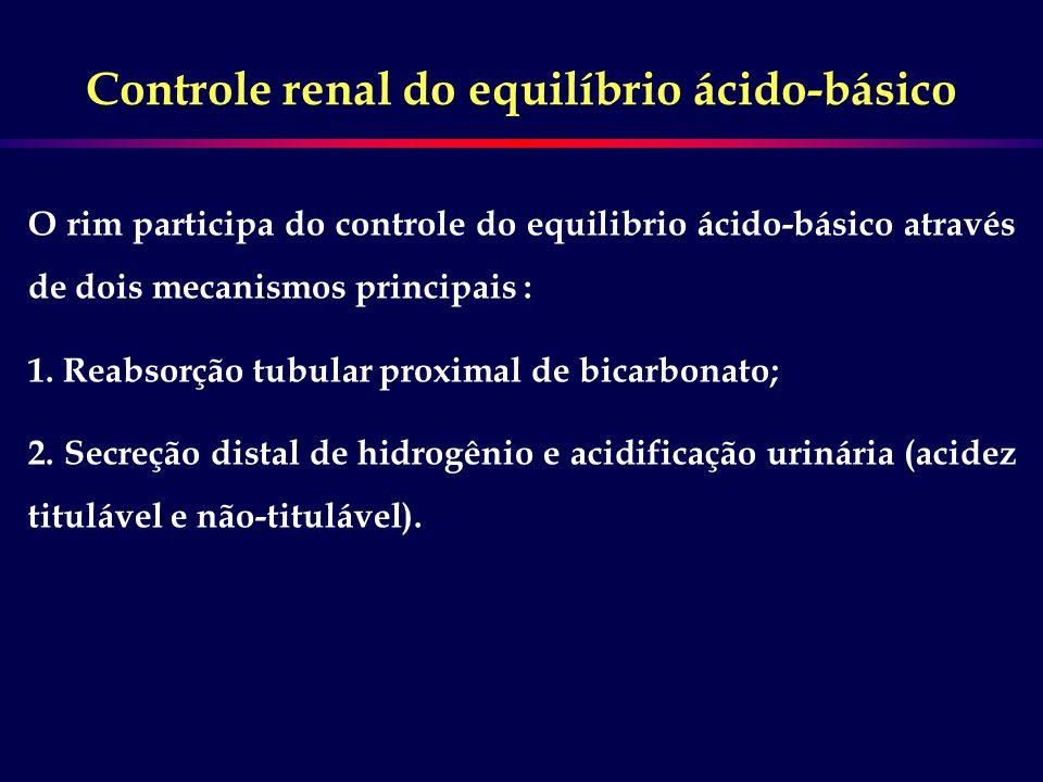 Controle renal do equilíbrio ácido-básico