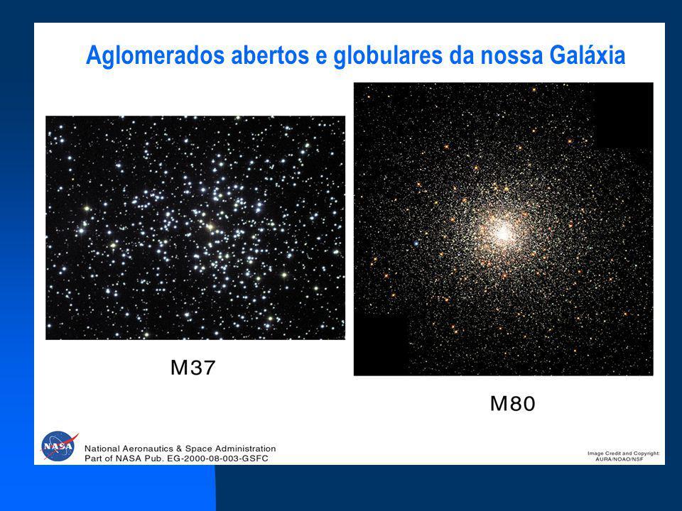 Aglomerados abertos e globulares da nossa Galáxia