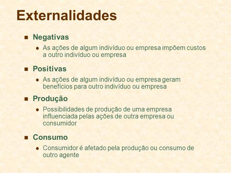Externalidades Negativas Positivas Produção Consumo