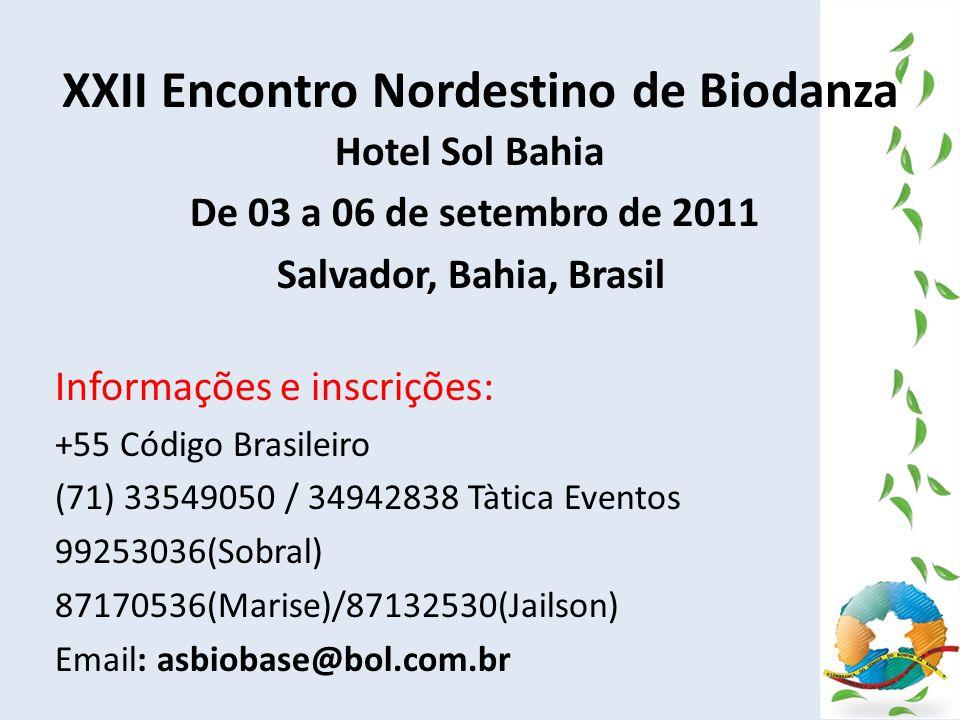 XXII Encontro Nordestino de Biodanza