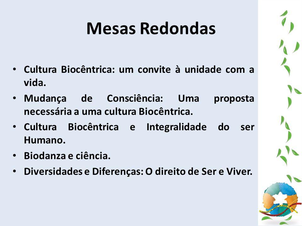 Mesas Redondas Cultura Biocêntrica: um convite à unidade com a vida.
