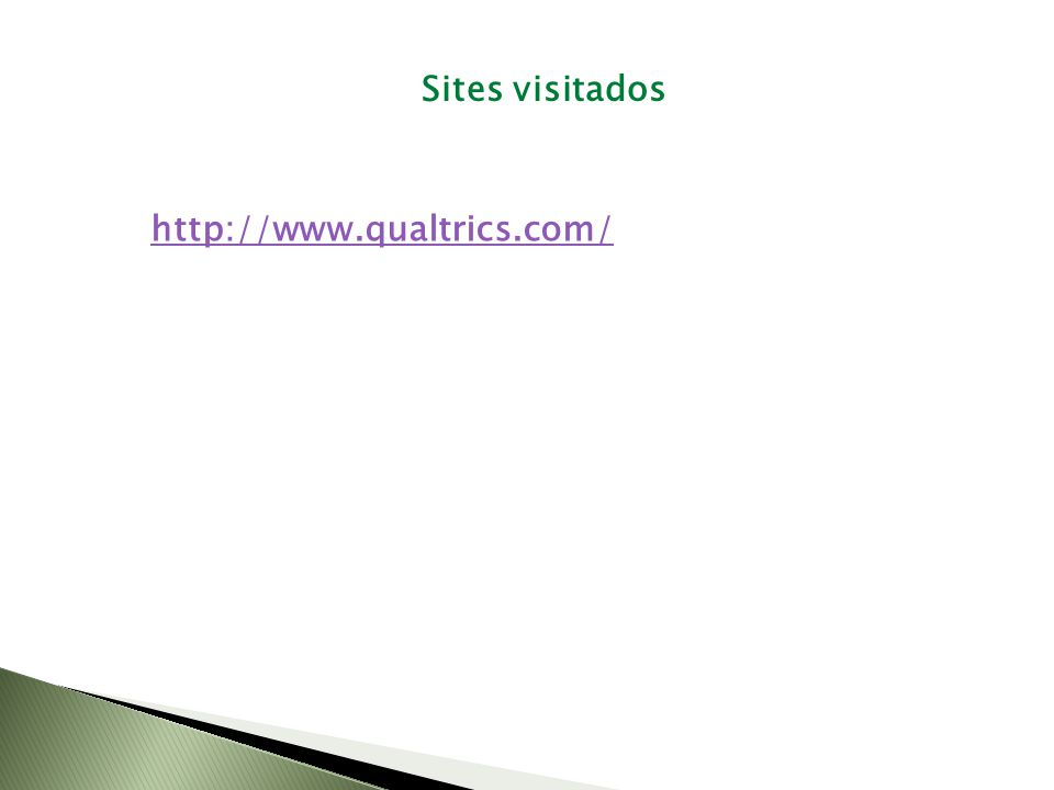 Sites visitados http://www.qualtrics.com/
