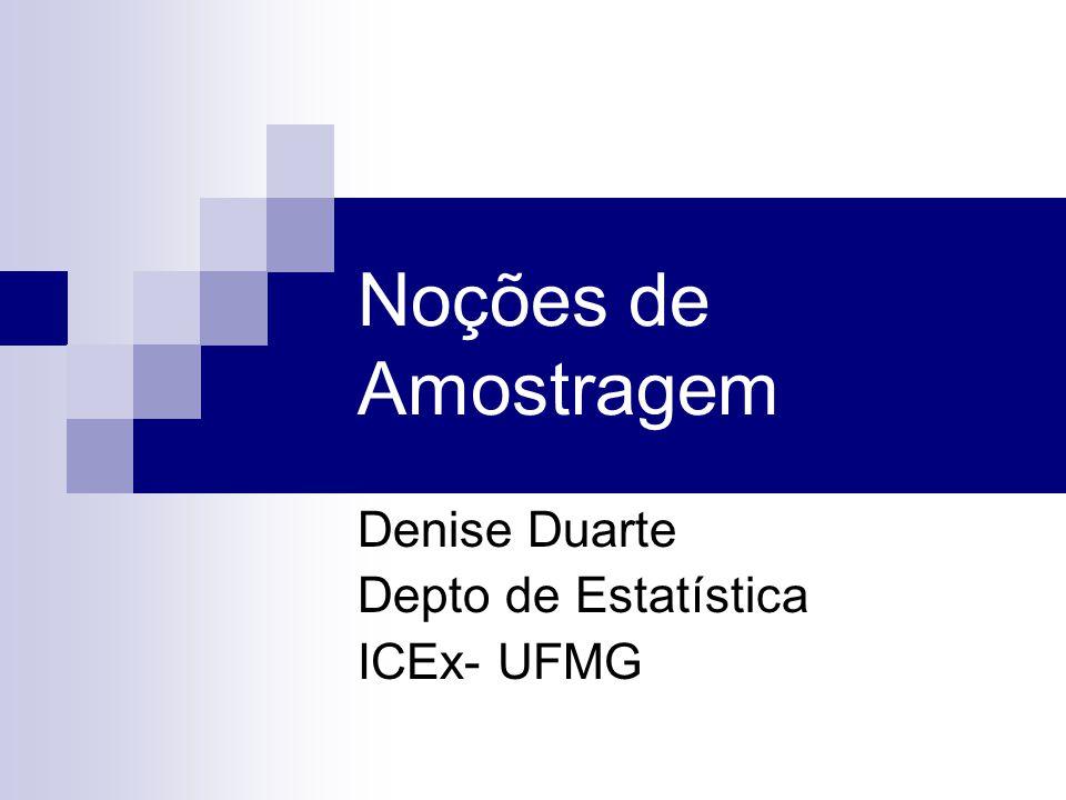 Denise Duarte Depto de Estatística ICEx- UFMG