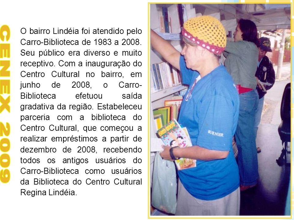 O bairro Lindéia foi atendido pelo Carro-Biblioteca de 1983 a 2008