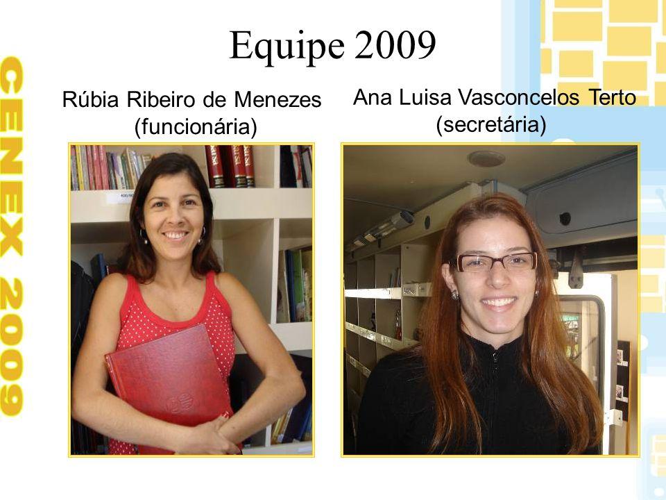 Equipe 2009 Ana Luisa Vasconcelos Terto Rúbia Ribeiro de Menezes