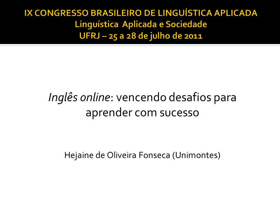 Inglês online: vencendo desafios para aprender com sucesso