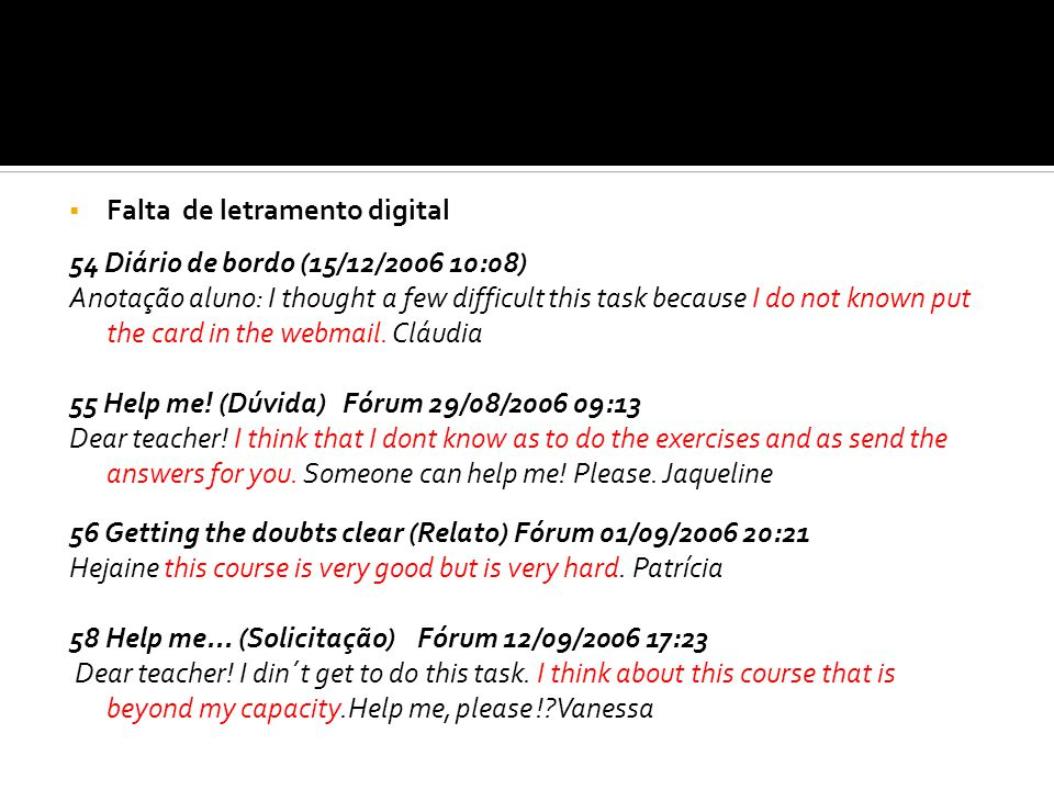 Falta de letramento digital
