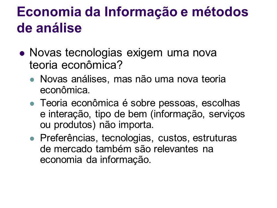 Economia da Informação e métodos de análise