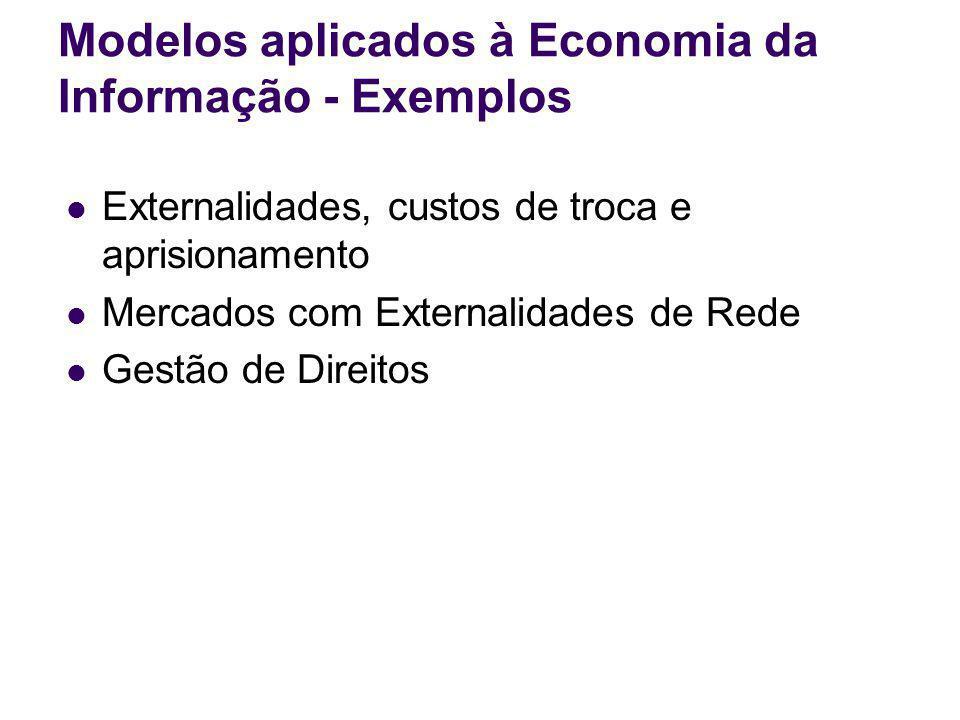 Modelos aplicados à Economia da Informação - Exemplos