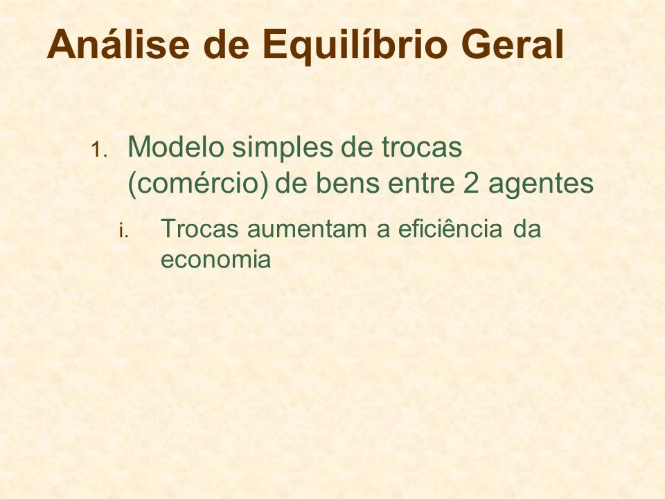 Análise de Equilíbrio Geral