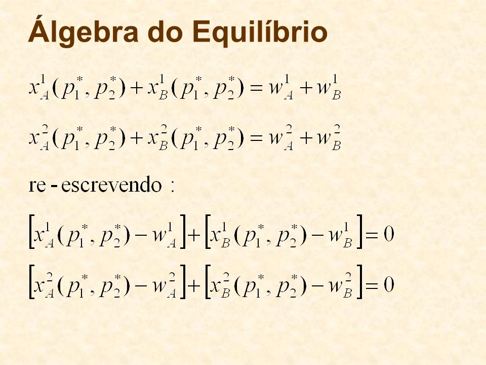 Álgebra do Equilíbrio 64