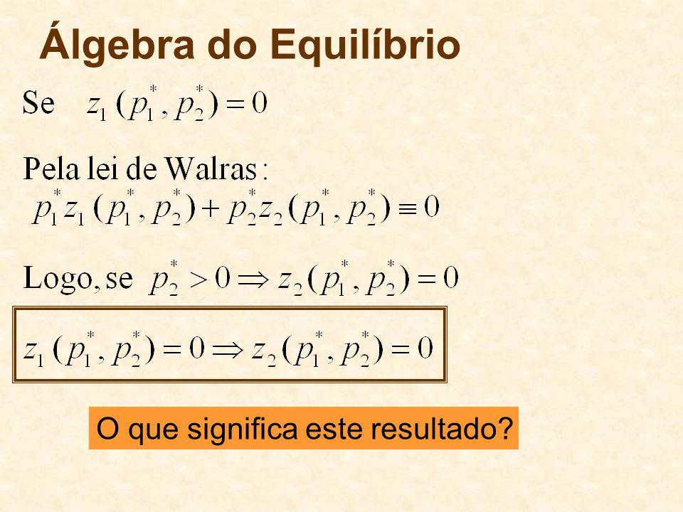 Álgebra do Equilíbrio O que significa este resultado 64