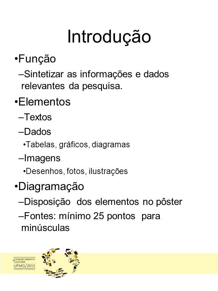 Introdução Função Elementos Diagramação