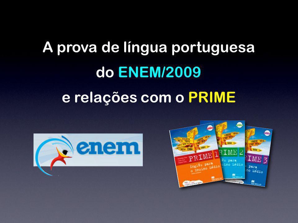 A prova de língua portuguesa