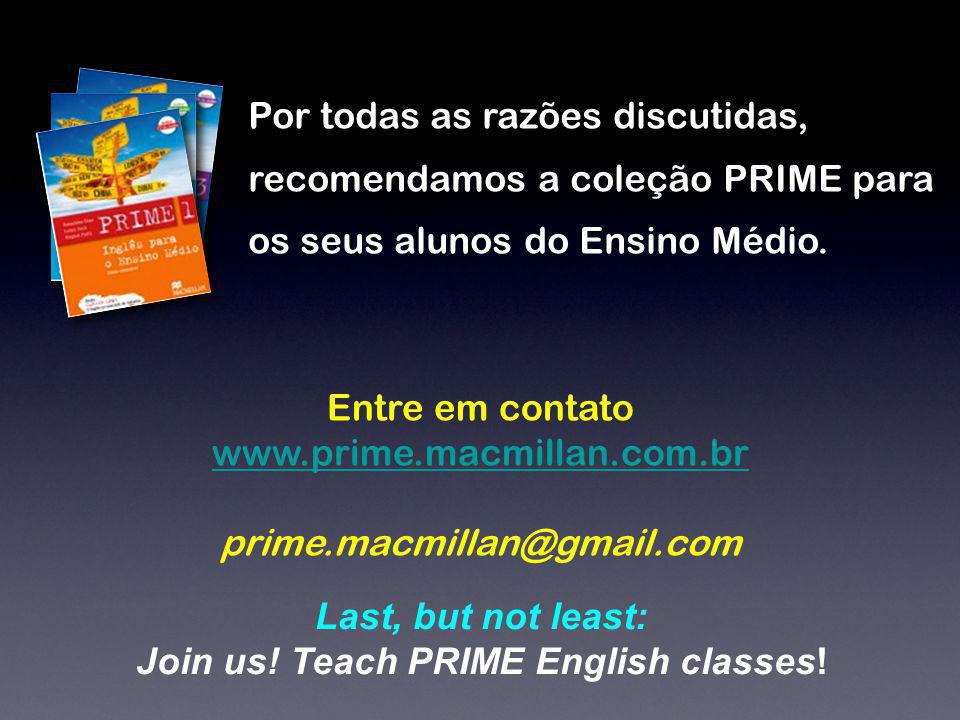 Join us! Teach PRIME English classes!